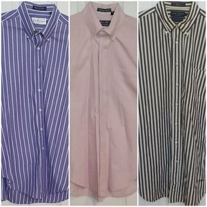 BUNDLE of 3 striped long sleeve button down